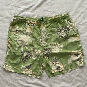 Tommy Bahama Mens Swim Trunks Green Size XL